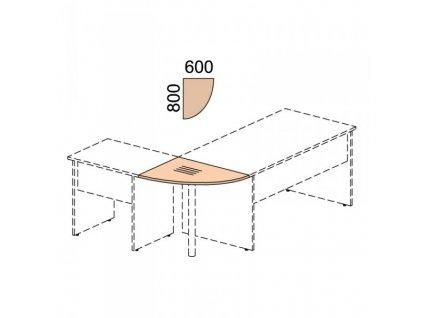 Propojovací prvek Impress 80 x 60 cm / Javor