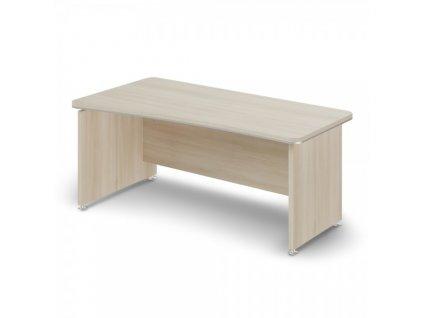 Ergonomický stůl TopOffice 180 x 94,8 cm, levý / Světlý akát