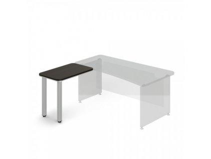 Přístavný stůl TopOffice, levý, 90 x 55 cm / Wenge