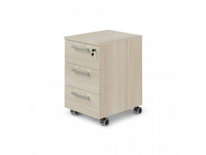 Mobilní kontejner TopOffice 40,8 x 50,4 cm / Světlý akát