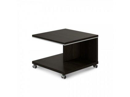 Konferenční stolek mobilní TopOffice 70 x 70 cm / Wenge