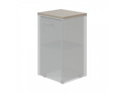 Horní obkladová deska TopOffice pro úzkou skříň / Driftwood