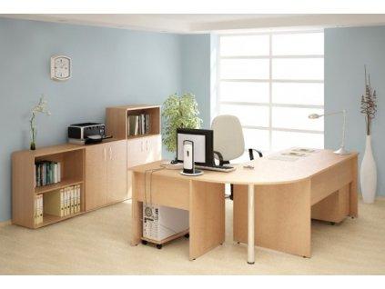 Kancelářský nábytek sestava Impress 6 / Tmavý ořech