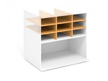 Nika (lístkovnice) pro skříň 80,4 x 60 / Bílá