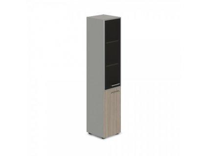 Vysoká úzká skříň TopOffice, levá, 39,9 x 40,4 x 196,5 cm / Driftwood