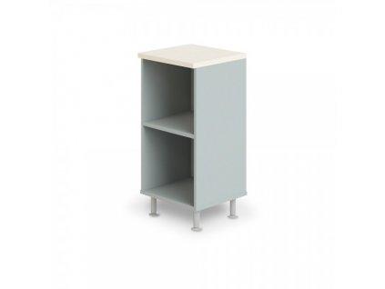 Nízká úzká skříň Manager LUX 45 x 43 x 93 cm / Bříza