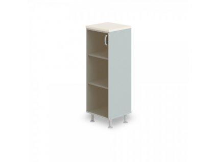 Střední úzká skříň Manager LUX, levá, 45 x 43 x 129,2 cm / Bříza