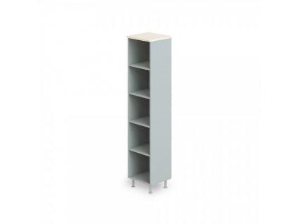 Vysoká úzká skříň Manager LUX 45 x 43 x 207,4 cm / Bříza
