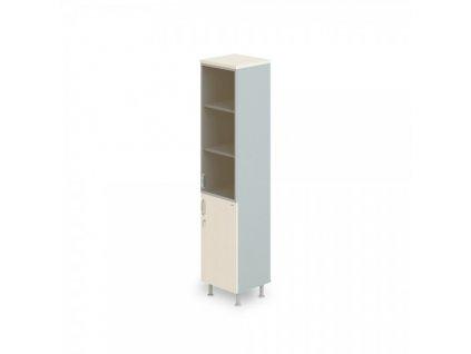 Vysoká úzká skříň Manager LUX, pravá, 45 x 43 x 207,4 cm / Bříza