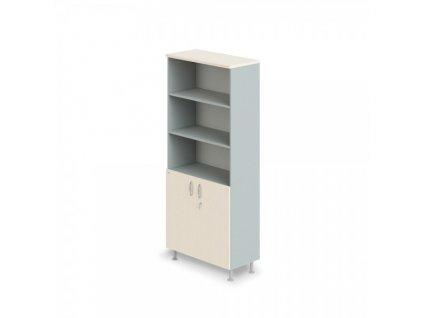 Vysoká široká skříň Manager LUX 90 x 43 x 207,4 cm / Bříza