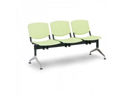 Plastová lavice Design, 3-sedák