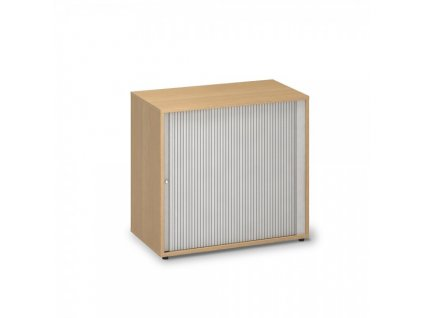 Nízká žaluziová skříň ProOffice 80 x 45 x 73,5 cm / Buk