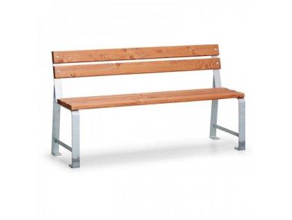 Venkovní lavička Mezzo s opěradlem - 1,5 m