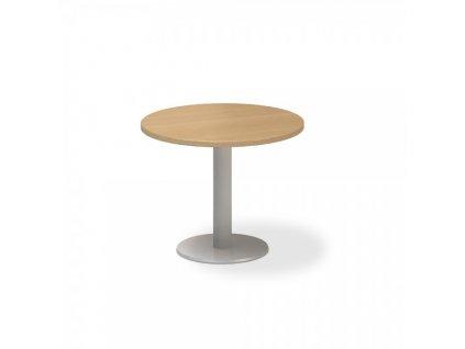 Jednací stůl ProOffice, průměr 70 cm / Buk