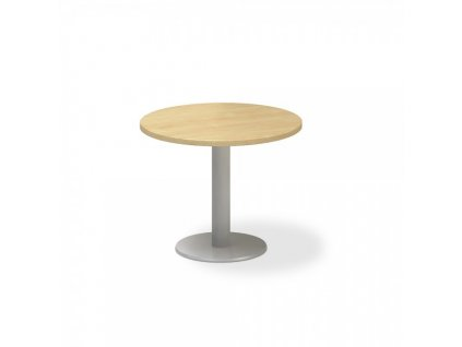 Jednací stůl ProOffice, průměr 70 cm / Hruška