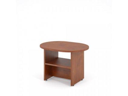 Konferenční stůl Impress 80 x 60 cm oválný / Tmavý ořech
