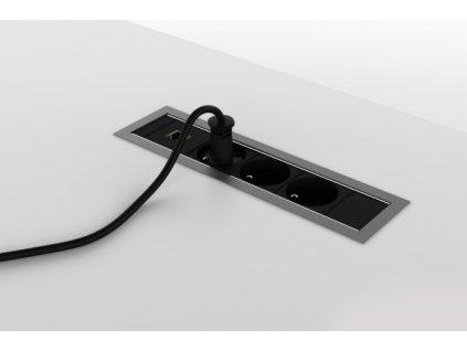 Zásuvkový panel Creator I, šedá/černá