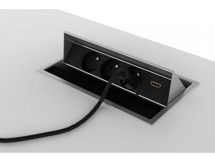 Zásuvkový panel Creator II, šedá/černá