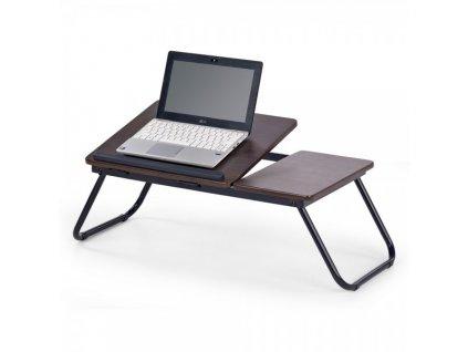 Notebook stolek Sylvester / Tmavý ořech