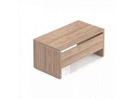 Stůl Lineart 160 x 85 cm + krycí panel / Jilm tmavý