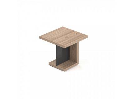Jednací stůl Lineart 80 x 80 cm / Světlý jilm a antracit