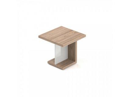 Jednací stůl Lineart 80 x 80 cm / Světlý jilm a bílá