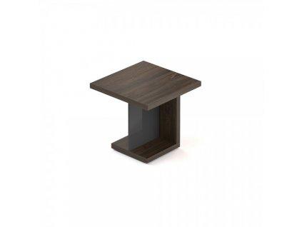 Jednací stůl Lineart 80 x 80 cm / Tmavý jilm a antracit