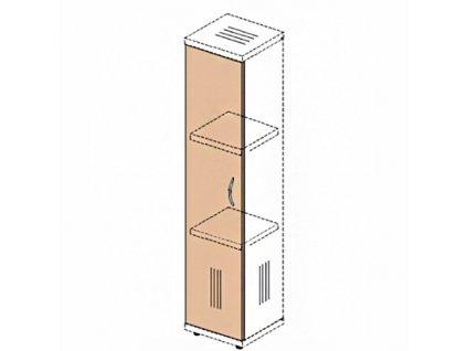 Dveře na úzkou skříň Impress 36,6 x 37 x 119,6 cm / Tmavý ořech