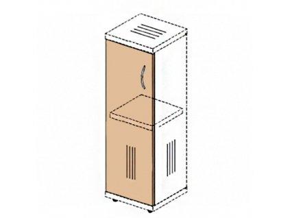 Dveře na úzkou skříň Impress 36,6 x 37 x 80 cm / Tmavý ořech
