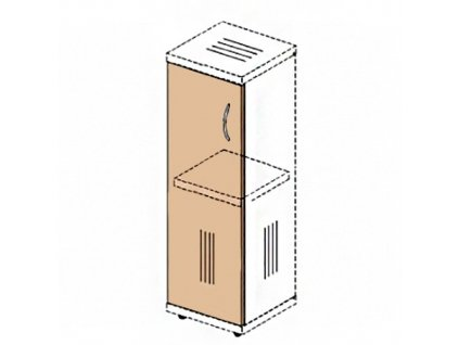 Dveře na úzkou skříň Impress 36,6 x 37 x 80 cm / Javor