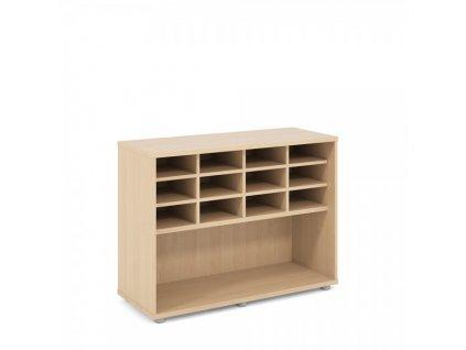 Nízká skříň Praktik 100 x 40 x 75,3 cm / Javor