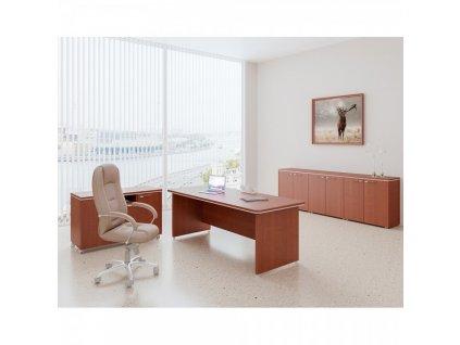 Sestava kancelářského nábytku TopOffice 4 / Světlý akát
