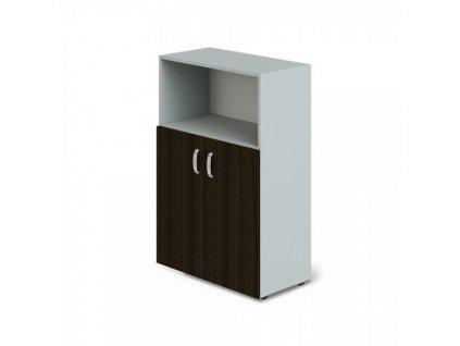 Střední skříň Manager 79,8 x 42,2 x 119,5 cm / Wenge