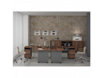 Sestava kancelářského nábytku Manager 1 / Wenge