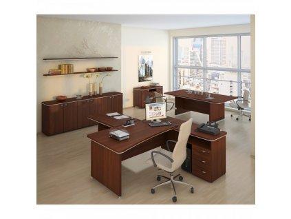 Sestava kancelářského nábytku TopOffice 5 / Wenge