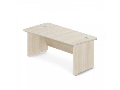 Rohový stůl TopOffice Premium 203,2 x 102,7 cm, levý / Světlý akát