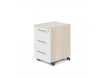 Mobilní kontejner TopOffice Premium 40,8 x 50,4 cm / Světlý akát a bílá