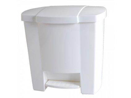 Odpadkový koš otevíraný nožním pedálem bílý 7,5 l