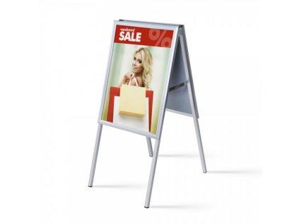Interiérové reklamní áčko A2, ostrý roh, profil 25 mm