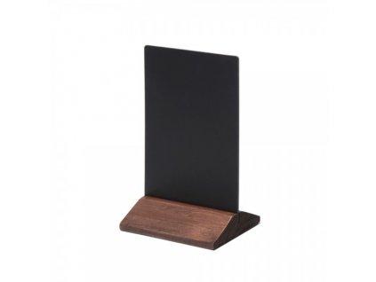 Dřevěný menu stojánek 10 x 15 cm / tmavě hnědá