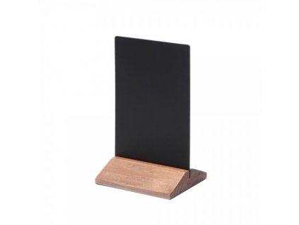 Dřevěný menu stojánek 10 x 15 cm / světle hnědá