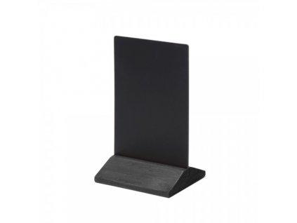 Dřevěný menu stojánek 10 x 15 cm / černá