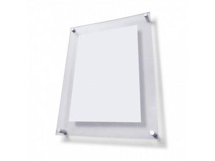 Plexi tabule A5 s ozdobnými šrouby