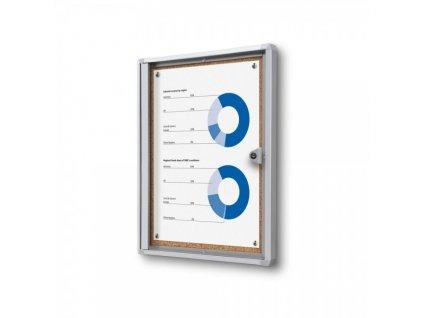 Interiérová vitrína Economy 1 x A4 - korková záda