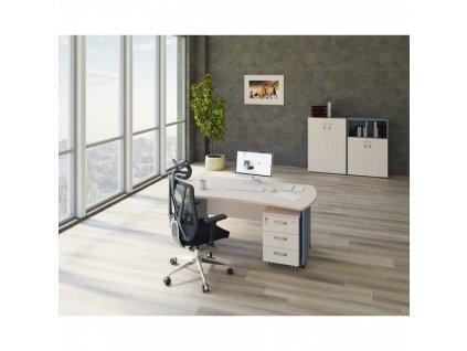 Sestava kancelářského nábytku Manager 5 / Wenge