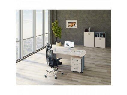 Sestava kancelářského nábytku Manager 5 / Bříza