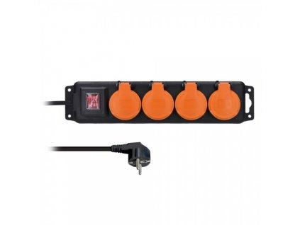 Prodlužovací kabel 4Z - 3m, vypínač, venkovní