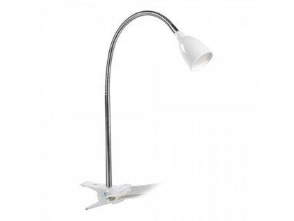 Stolní LED lampička na clip 2,5W / Bílá