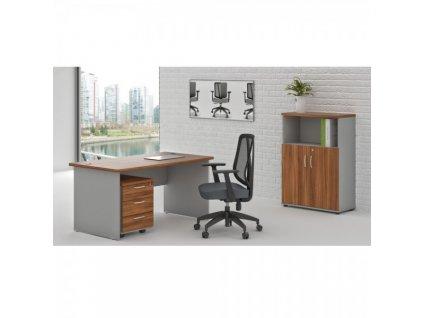 Sestava kancelářského nábytku Visio LUX 2 / Ořech