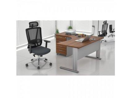 Sestava kancelářského nábytku Visio LUX 7 / Ořech